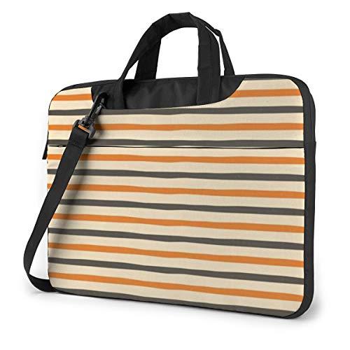Vintage Colorful Halloween Chevron Art Laptop Bag Protective Case Computer Messenger Briefcase Women Men 15.6'
