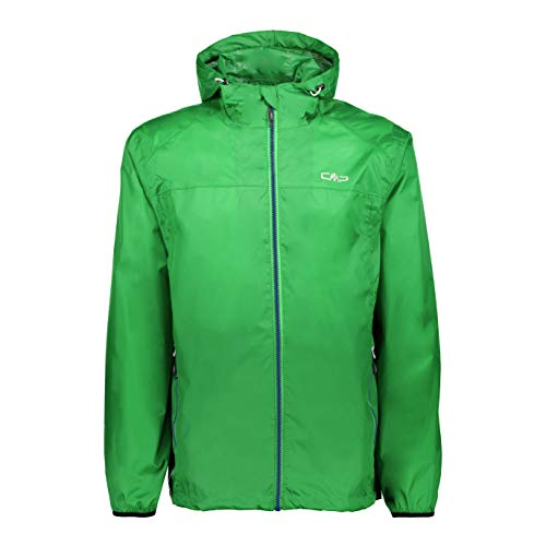 CMP Rain Jacket with Fixed Hood Jacke für Herren, Herren, Rain Jacket, 3X57627, Aloe, XL