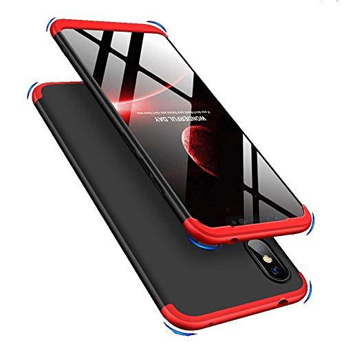 IMEIKONST Xiaomi Mi A2 Lite Cover, 3 in 1 Matte Duro PC Custodia 360 Gradi Full Body Protezione Anti Shock Anti-graffio Bumper Ultra Thin Caso per Xiaomi Redmi 6 PRO. 3 in 1 Black + Red AR