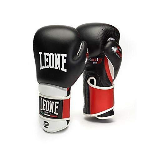 Leone 1947 - Guantes de Boxeo, Unisex, para Adulto, Color Negro, 12 oz