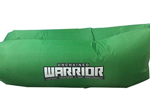 Unchained Warrior Sofá cama portátil relajante para dormir, picnic, playa garantizada. (verde)