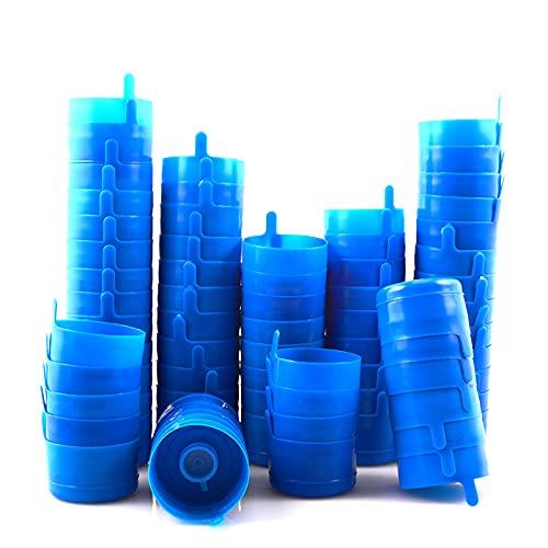 Paquete de 100 tapas de botella de agua, reutilizables, 55 mm, 3 y 5 galones, tapas antisalpicaduras, tapas de jarra de agua, tapas de repuesto para dispensadores de agua, recipientes de agua