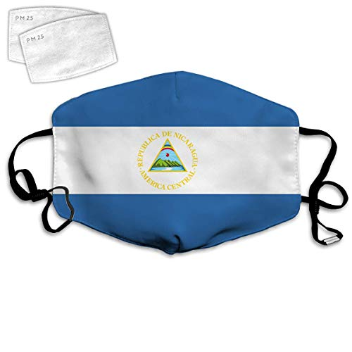 Mouth Protection Face Protection Mouth Scarf Face Scarf Unisex Reusable Nose Face Cover Flag Nicaragua Mouth Cover Comfortable Breathable Washable For Adult Kids