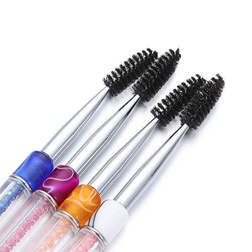6 Couleurs Pinceaux De Maquillage Extension Cils Sourcils Mascara Baguettes Spirale Strass Applicateur Spoolers Yeux Cosmétiques Peigne Outils