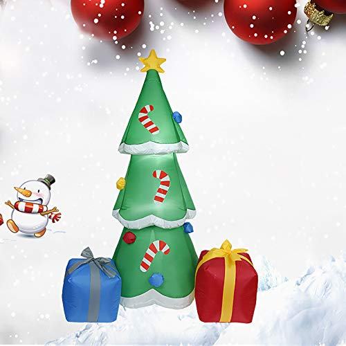 PIKAqiu33 Large Inflatable Christmas Tree Decoration 180cm/70.8in Tall with LED Lights, Inflatable Toy, Toys and Hobbies (As Shown)
