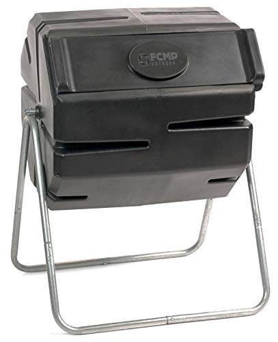 FCMP Outdoor RM4000 Tumbling Roto Composter, Colour Black