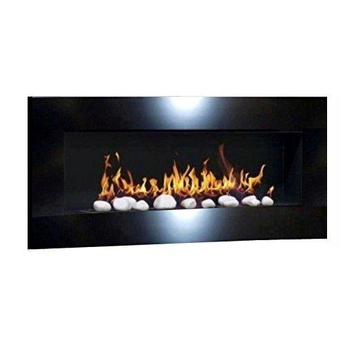 Chimenea XXL PLUS Design chimenea de pared Bio etanol y gel ardiente Chimenea...