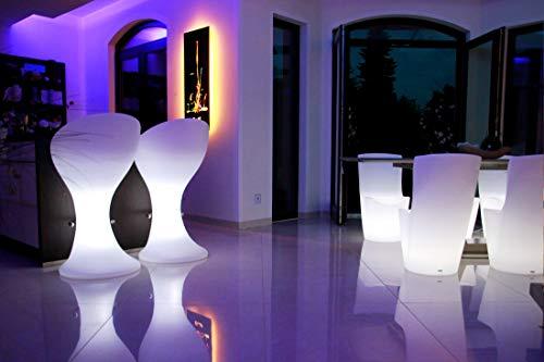 FURSTAR LED Lounge Leuchtmöbel ALIES Barhocker, Hochstuhl, Barstuhl, Leuchtsitz