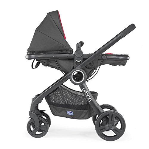Chicco Urban Plus - Carrito transformable en capazo y silla de paseo, 7,6 kg, color negro