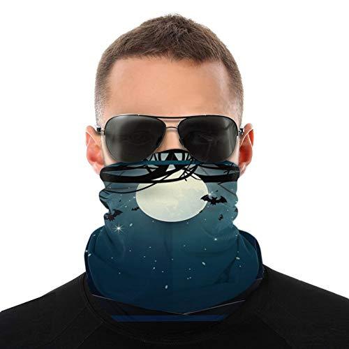 Alte Bäume auf Vollmond Hintergrund Gesichtsschutz Unisex Bandana Neck Gaiter Kopfbedeckung Multifunktionale Schal Sturmhaube Für Outdoor-Sport Staub Sonne Wind