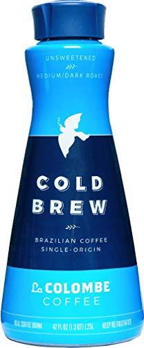La Colombe Cold Brew Coffee - Brazilian - 42 Fl Oz - Unsweetened Medium/Dark Roast, Single-Origin - Made With Real Ingredients - No Sugar Added - Pure Black Grab And Go Coffee