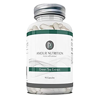 Green Tea Extract by Amour Nutrition, 850 mg 90 Capsules, Increase Metabolic Rate and Fat Loss, Suitable for Men and Women 90 Capsules, Powerful Antioxidant, Money Back Guarantee