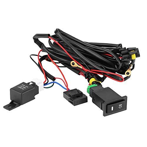 Outbit Kabelsatz - 1 Satz 12V Universal-Auto-Nebelscheinwerfer-EIN/Aus-Schalter Kabelbaum-Sicherungsrelais-Kit.