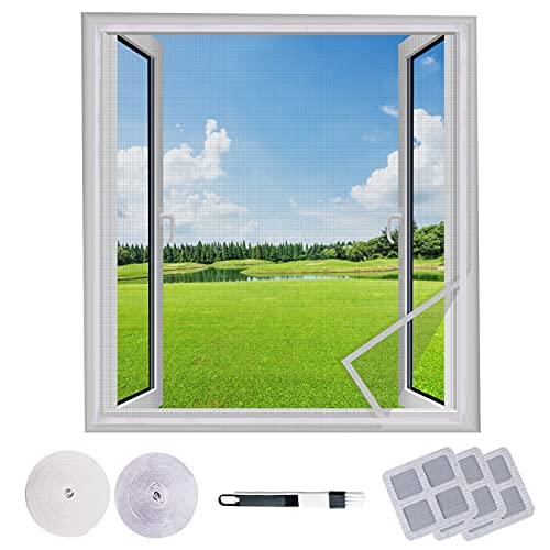 2PCS Mosquitera Ventana 130x150CM, Mosquitera de Protección Contra Insectos, Lavable, Se Puede Cortar, Buena Permeabilidad Al Aire, No Requiere Perforación (Gris)
