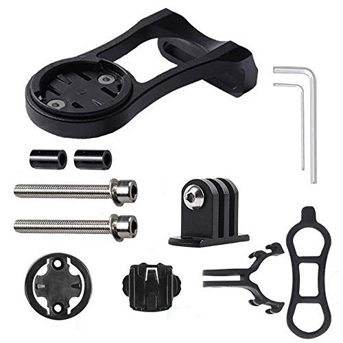 incoous 3-in-1 Cycling Bike Computer GPS Out Front Mount Holder for Garmin Edge Cateye Bryton Bike Computer Gopro Camera Bicycle Light, for Mountain Bike Road Bike Handlebar Extended Combo Mount