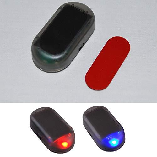 Fyeep USB + SOLAR Auto Alarmanlage Dummy Imitation Diebstahlsicherung Attrappe Auto Alarmanlage
