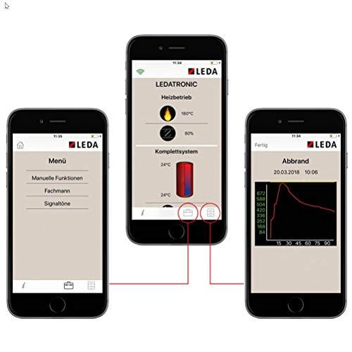 LEDA Ledatronic LT3 WiFi elektronische Verbrennungsluftregelung für Heizeinsatz Diamant, Juwel