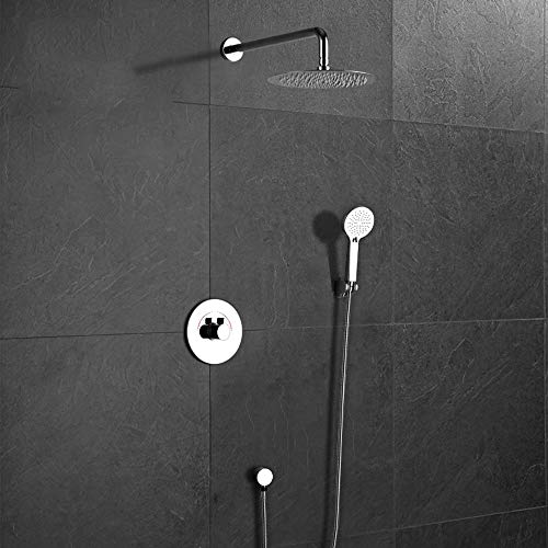 Best Price L.J.JZDY Shower Set Household Bathroom Shower Set Wall-Mounted Concealed Shower Set Doubl...