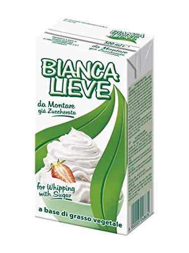 3x Confezione di Panna VEGETALE - 500ml - BIANCA LIEVE - da montare già zuccherata - a base di grasso vegetale a lunga conservazione U.H.T. zuccherato