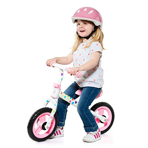 Bicicleta sin Pedales Minibike Molto - sin Casco. con sillín y Manillar Regulables (Rosa)