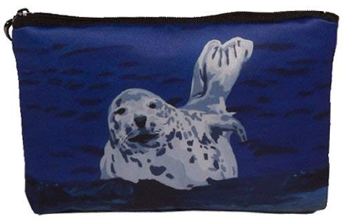 Seal Kosmetiktasche, Reißverschluss - Take From My Original Paintings (Seal - Playful Pup)