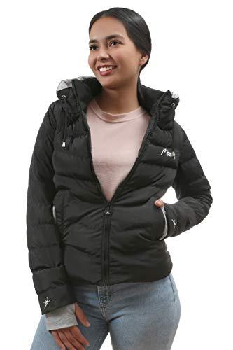 MISSITY giacca invernale trapuntata da donna nero grigio S