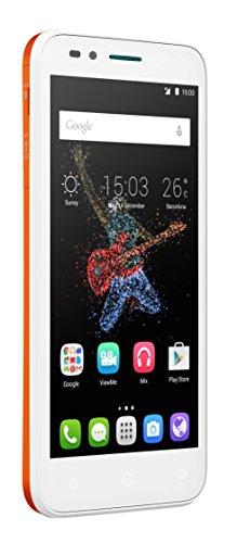 Alcatel Go Play smartphone débloqué 4G (Ecran : 5 pouces - 4 Go - 1 Go RAM - Waterproof IP67 - Android Lollipop 5.0.2) Blanc/Orange