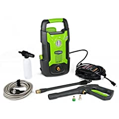 1500 PSI with 1.3 GPM ideal for driveways, patios and washing vehicles 13 Amp Universal Motor for reliability and high performance 35 feet Electric Cable with normal GFCI for portable use Adjustable Wand allows for flexibility 1 year warranty 1500 PS...