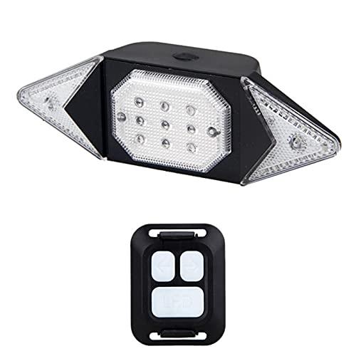 Nueva Luz LED para Bicicleta, Luz Recargable por USB, Control Remoto Inalámbrico Inteligente, Luz de Advertencia para Señal de Giro, Luz para Bicicleta