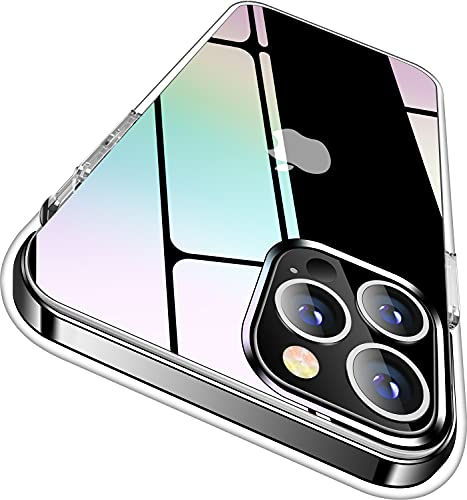 AKohis Holographic Clear Compatible with iPhone 12 Pro Max Case [Never Yellow] [Military Grade Protection] Shockproof Protective Phone Case Slim Thin Cover (6.7'') 2020- Iridescent Design