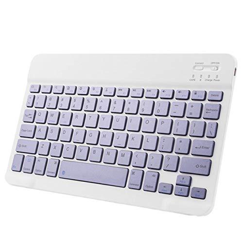 YXDS Juego de Teclado Teclado inalámbrico portátil Universal de 10 Pulgadas para Tableta, computadora, teléfono móvil