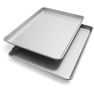 Sur La Table Platinum Professional Half Sheet Pans 21320ST, 17.25  x 12.25 , Set of 2