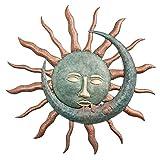 LHQ-HQ Sol Luna Caras Besando Decoración De Pared Arte Escultura De Pared Impermeable Durable Placa De Pared De Metal Decoración Colgante De Pared para El Hogar Jardín Patio Porche Valla