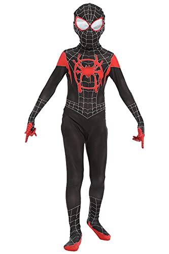 Disfraz de película/cosplay con diseño impreso de Spider-Man, traje y pasamontañas