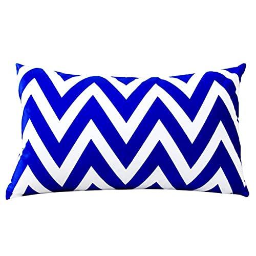 Rectángulo rectángulo Corto Plush Funda de Almohada Estilo nórdico Funda de Almohada Negro sofá Blanco Suave cojín Cubierta geométrica decoración del hogar (Color : Style 3, Size : 30cm x 50cm)