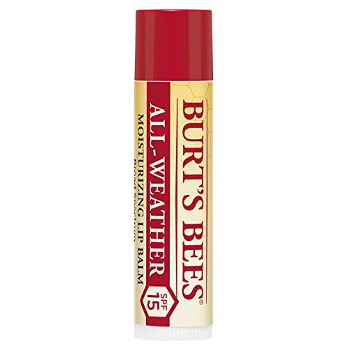 Burt's Bees 100 Prozent Natürlicher feuchtigkeitsspendender Lippenbalsam, mit SPF 15, Wasserfest, 1 Tube