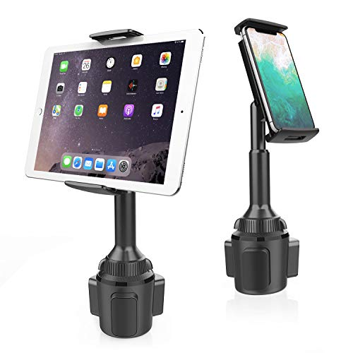 Cup Holder Tablet Mount, APPS2Car 2-in-1 Cup Holder Car Cradle Adjustable Tablet Car Mount Holder for Car/Truck Compatible with 4.3-11 inch Tablets, iPad Mini/Air/Pro, iPhone, All Smartphones
