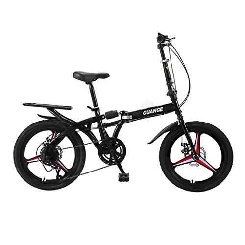SHUANGA 20-Zoll-Faltrad-Faltrad-Installation für Erwachsene Installationsfreies Faltrad für Erwachsene mit variabler Geschwindigkeit. Einrad mit integriertem Einzelstoßdämpfer und integriertem Rad