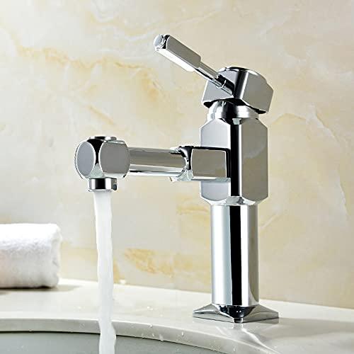 Grifo para lavabo de recipiente de baño, cromado, manija única, 1 orificio, montaje en cubierta, grifo mezclador para lavabo con rosca de compresión hembra de 1/2 ', conector macho M10, línea de flota