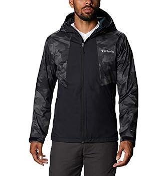 Columbia Men's Inner Limits II Jacket Packable Waterproof & Breathable Black/Black Spotted Camo Medium