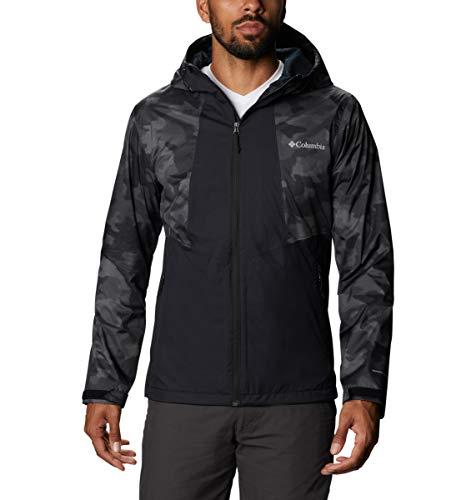 Columbia Men's Inner Limits II Jacket, Packable, Waterproof & Breathable, Black/Black Spotted Camo, Medium
