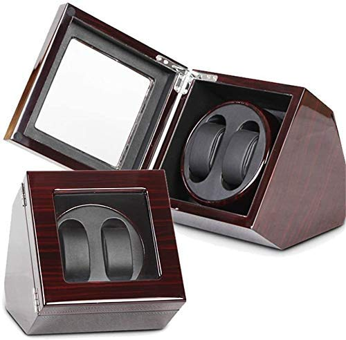 Kücheks Watch Winder Box 2 + 0 Watch Winder Double Rotation Winders Deluxe Silent Motor Wood Box 4 Modes 2 Power Supply Mode (Color: C)