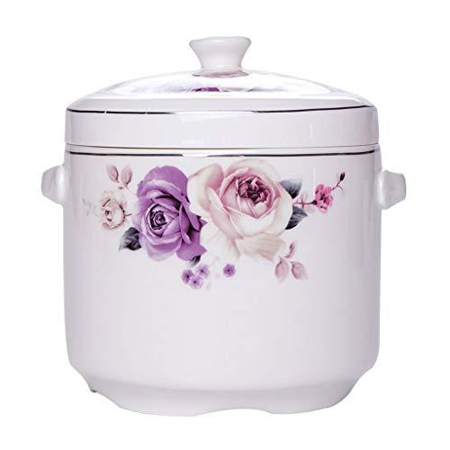 Olla acero La tapa de cerámica Crisol de guisado con, dos orejas, hogar a prueba de agua Liner, sopa de olla, que cuece el pote, Crisol de guisado, Crisol de guisado, Soup Bowl olla ( Size : XS )