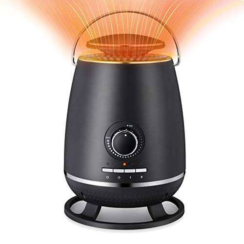 Kismile Small Space Heater Electric Portable Heater Fans with Adjustable Thermostat and Overheat...