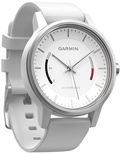 Garmin Vívomove WW, White with Sport Band Fitness-Tracker Im Klassischen Uhrendesign, Weiß, Regular