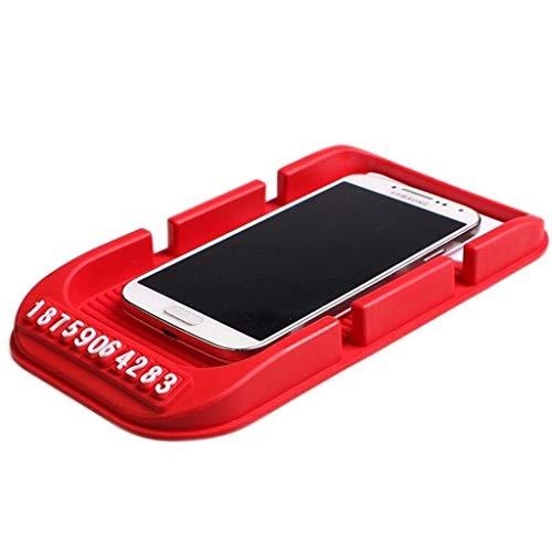 LEGOUGOU Auto Dashboard Digitale Antislip Rubber Handvat Mobiele Telefoon Stoel Anti-slip Mat GPS Satelliet Navigatie Zwart/Rood