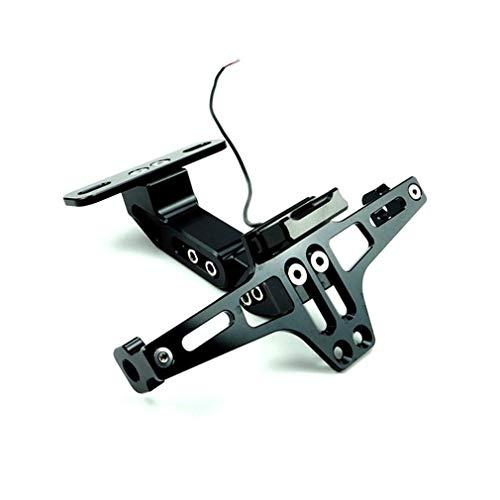LTGJJ kentekenplaatframe met LED-licht, motorfietsaccessoires, zilver, staal klein Monster modieuze kaartenframe voor Msx125 kleine aapen