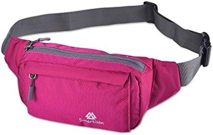 R C Fanny Pack with 4 Zipper Pockets Waist Bag Travel Pocket with Adjustable Belt for Workout product image