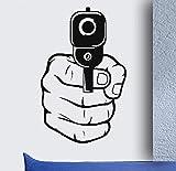 Disparos De Armas Cool Boys Dormitorio Sala De Estar Arte De La Pared Pegatinas Calcomanías Vinilo Decoración Para El Hogar 90X57Cm