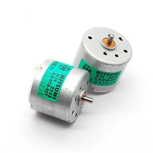 2pcs 3W Six pole rotor motor Strong magneto motor 3.6v 5700RPM high torque for diy smart car power micro motor